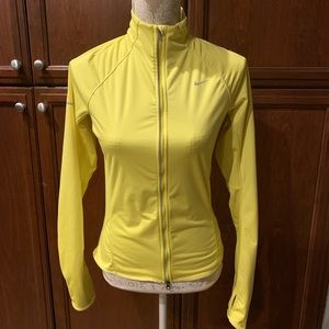 Nike running reflective quilt lined yellow jacket